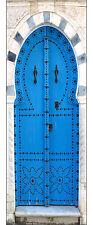 Sticker pour porte trompe l'oeil décoration intérieure porte orientale réf 530