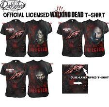 Original con Licencia Spiral The Walking Dead Rasgado Camisetas / Rick /Zombie/