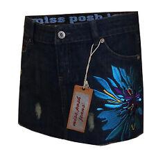 Ladies Miss Posh Womens Summer Mini Skirt Denim New Superb