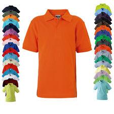 James & Nicholson Kinder Poloshirt CLASSIC POLO JUNIOR Hemd Kurzarm Neu JN070K