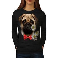 Pug Puppy Admirer Women Long Sleeve T-shirt NEW   Wellcoda