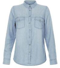 New Look Women's Casual Denim Button Up Shirt