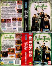 La familia Adams UE PAL NTSC nos Sega megadrive caja de sustitución Arte caso inserto