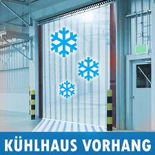 Streifen Vorhang aus PVC ( weich PVC Glasklar ) transparent Kühlhaus