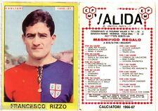 FIGURINA PANINI 1966 1967 , CAGLIARI,  FRANCESCO RIZZO   , PERFETTA , -A42