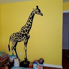 Giraffe Wall Stickers Safari Animals Wall Decal Kids Bedroom Home Decor Huge