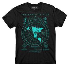 Flat Earth Map t-shirt, Earth is flat, Firmament, NASA lies, New World Order