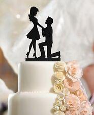 Fidanzato & fidanzata NELL'UOMO IN GINOCCHIO Decorazioni per Torta Nuziale Fidanzamento