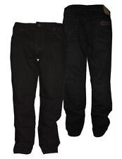 """WRANGLER Extra Alto Texas Elástico Negro Teñido jeans en Cintura 32"""" to 112cm"""