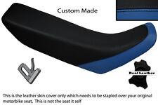 BLUE & BLACK CUSTOM FITS HONDA XR 250 400 96-04 REAL LEATHER SEAT COVER