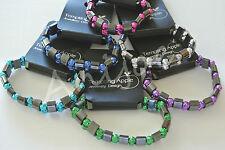 Hematite and Rose Beads Stretchy Bracelets