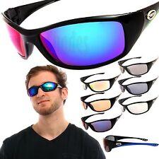 X-Loop Wrap Sunglasses Mens Sport Cycling Fishing Golfing Glasses Mirror Lens