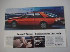 advertising Pubblicità 1981 RENAULT FUEGO GTX