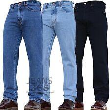 Mens Regular Fit Hard Wearing Work Denim Pants Jeans Trousers Blue Waist Leg