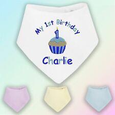 My 1st Birthday Cake - Boy Embroidered Baby Bandana Dribble Bib Gift