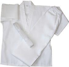 Adulto / TEEN KARATE uniforme / GI in Policotone + Bianco Cintura Per Adulti & teen