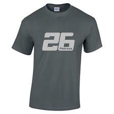 Dani Pedrosa 26 MotoGP Rider Silver text t shirt Motorbikes Unisex ladies kids