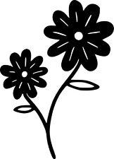 Daisy Flowers Vinyl Sticker Decal - Choose Size & Color