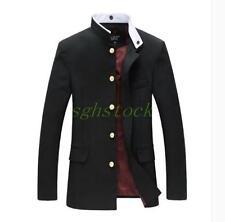 Men's Tunic Jacket Single Breasted Blazer School Uniform Buttons Coat 42
