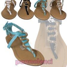 Sandali scarpe donna GIOIELLO serpente strass infradito cinturino nuovi 3866-5