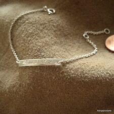Babyarmband, Kinderarmband, 925 Silber ID Armband, Schildarmband m Gravur, GA-02
