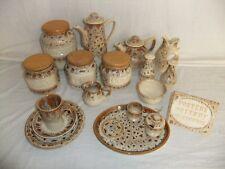 C4 Fosters Pottery Honeycomb - mug plate storage jar teapot milk jug sugar 9A4D