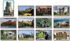 FRIDGE MAGNET - UK CASTLES - (Various Designs) - Large British England