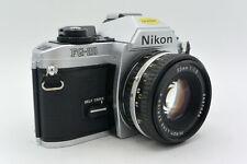 Nikon Chrome FG-20 Manual Focus MF SLR Camera, Choice of Lenses e.g. 50mm f/2.0