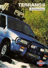 Nissan Terrano II Accessories 1995-96 UK Market Sales Brochure