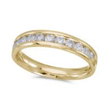 14K Yellow Gold Diamond Band Ring