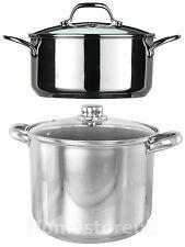 Induction faitout en acier inoxydable cuisson ragoût soupe casserole pan cassero...
