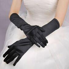 Gants Longs en Satin (Blanc, Rouge, Noir, Rose, Bleu,... Mariage Opéra