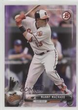 2017 Bowman Purple #40 Manny Machado Baltimore Orioles Baseball Card