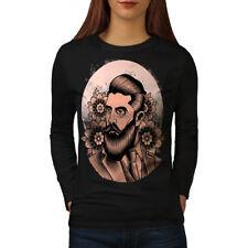 Beard Hipster Vintage Women Long Sleeve T-shirt NEW | Wellcoda