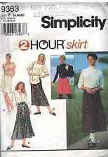 9363 Vintage Simplicity SEWING Pattern Misses 2HOUR Pull on Elastic Skirt UNCUT