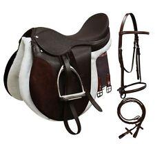 English Saddle All Purpose Complete Starter SET Deep Seat Black or Brown NEW