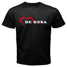 New De Rosa Italian Bicycle Logo Men's Black T-Shirt Size S to 3XL