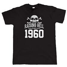 Raising Hell Since 1960 Biker T Shirt, Gift for Dad Grandad Christmas
