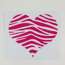 "ZEBRA STRIPED HEART DECAL STICKER VINYL CAR MIRROR WINDOW LOGO LAPTOP 5""X4.4"""