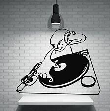 Wall Vinyl Sticker DJ Night Club Trance House Music TV Hip Hop (n018)