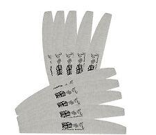 Grey Half Salon Emmery Nail File 100 / 180 Grit Washable Nails Files Manicure