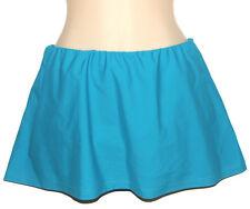 APT 9 Slinky SWIM SKIRT Panty Bottom Ocean Aqua Blue Womans Plus Size New $42