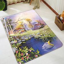 3D House Pelouse peinture 027 antidérapants Tapis Tapis Chambre Tapis De Qualité élégant Tapis UK Cobb