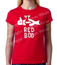 Ladies RED BOD t-shirt Pongo Clem Wear city banksy culture DEAD Hull culture