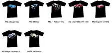 T-Shirt mit MG Automotive - Fruit Of The Loom S M L XL 2XL 3XL