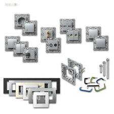 PROGRAMMA socket Modulo + INTERRUTTORE argento ad incasso prese