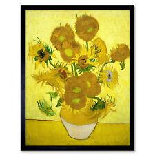 Vincent Van Gogh Zonnebloemen Art Print Framed 12x16
