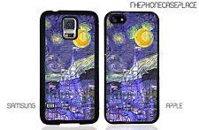 Disney Castle Vincent Van Gogh Starry Night Phone Case For Apple & Samsung Phone