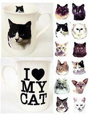 I Love My Cat Mug Fine Bone China Cat Lovers Mug Hand Decorated in the U.K.