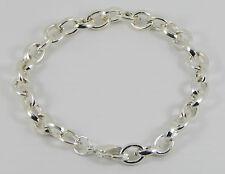 Plateado plata encanto pulsera de Clip En Dijes con langosta broche Tamaños 18 - 21